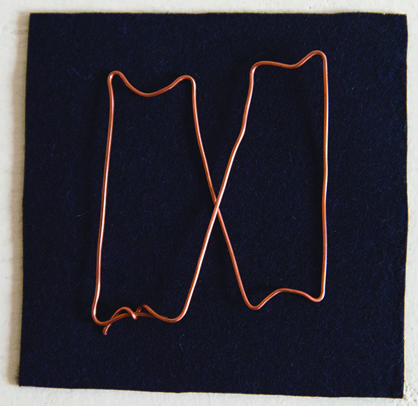 Copper wire, felt