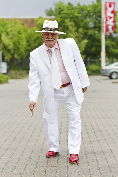 Ali White Suit - May 13, 2013