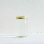 Ocean water, glass jar